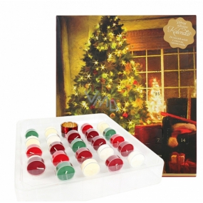 Heart & Home Advent Calendar Soy Scented Tea Candle 24 Pieces Gift Set