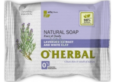 About Herbal Natural Soap Natural Toilet Soap with Lavender Extract and White Dirt 100 g