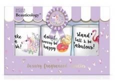 Baylis & Harding Beauticology Unicorn candle in glass with sweet aroma 3 x 110 g, gift set