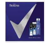 Rexona Men Cobalt 2in1 shower gel and shampoo for men 250 ml + deodorant spray for men 150 ml + water bottle, cosmetic set