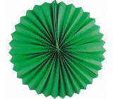 Lantern round green 25 cm
