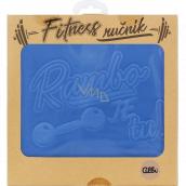 Albi Fitness towel Rambo is blue 90 x 50 cm