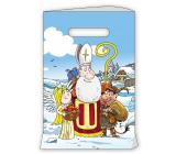 Anděl Gift paper bag 18 x 32 cm white Mikuláš, devil, angel