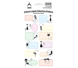 Arch Home stickers decorative cats 12 labels