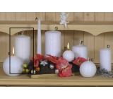 Lima Alfa Frosty effect candle white cylinder 80 x 200 mm 1 piece