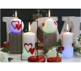 Lima Valentine's magic candle cylinder 60 x 120 mm 1 piece