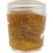 Ocean Glitter Gel shimmer for body and hair in golden gel 10 g