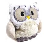 Albi Warm Plush Toy Snow Owl, 20 cm × 18 cm, 750 g