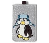 Nici Penguin Ilja Plush mobile phone case 10 x 15,5 cm
