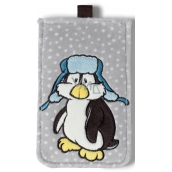 Nici Penguin Ilja Plush mobile phone case 10 x 15,5 cm