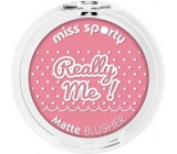 Miss Sporty Really Me! Matte Blusher tvářenka 102 Really Sweet 5 g