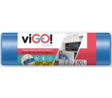viGO! Trash bags, retractable, 13 µ, 60 liters 60 x 70 cm 13µ 10 pieces