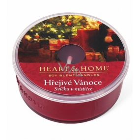 Heart & Home Warm Christmas Soy candle in a cup burns up to 12 hours 36 g