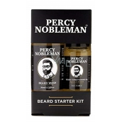 Percy Nobleman Beard Shampoo 30 ml + nourishing oil conditioner with beard fragrance Percy Nobleman 10 ml men's beard and mustache care set