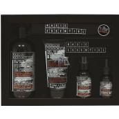 Basic Essentiel multi skin and beard oil 30 ml + skin cream 75 ml + shaving gel 150 ml + 4in1 shower gel 500 ml + 100% cotton bag, cosmetic set for men