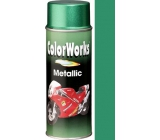 Color Works Metallic 918580 zelená metalíza akrylový lak 400 ml