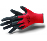 Schuller Eh klar Allstar Crinkle Work gloves with latex treatment and wrinkles, size M / 8