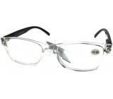 Berkeley Reading glasses +1.0 plastic transparent, black sides 1 piece MC2166