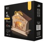 Emos Nativity scene decoration 18 x 16.5 cm, 4 LEDs, warm white + timer