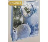 Nekupto Gift paper bag 14 x 11 x 6.5 cm Christmas blue flask WBS