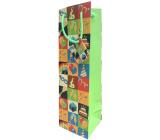 Nekupto Gift paper bag for bottle 10 x 33 x 8.5 cm Birthday 1903 50 KFLH