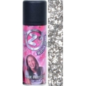 Zo Cool Glitter Spray glitry na vlasy a tělo Silver 125 ml
