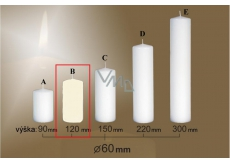 Lima Gastro Smooth Candle Ivory Cylinder 60 x 120 mm 1 Piece