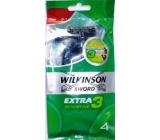 Wilkinson Extra 3 Sensitive Disposable Razor 3 blades 4 pieces