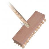 Spokar Floor brush with stick, wooden body, synthetic fibers, stick 140 cm