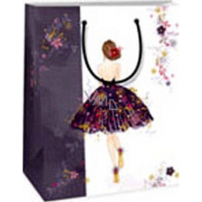 Ditipo Gift paper bag 18 x 10 x 22.7 cm white girl in a dress