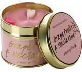 Bomb Cosmetics Grease and Nectarine A natural, handmade candle in a tin can burn up to 35 hours