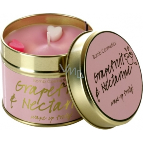 Bomb Cosmetics Grapefruit and nectarine Scented natural, handmade candle in a tin can burns for up to 35 hours
