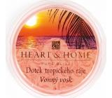 Heart & Home Dotek tropického ráje Sojový přírodní vonný vosk 27 g