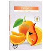 Bispol Aura Orange - Orange scented tea candles 6 pieces