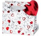 BSB Dárková papírová taška malá 14,5 x 15 x 6 cm Srdce LDT 362-CD