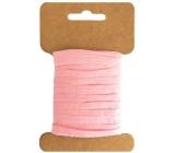 Paper bast pink width 2 cm, 10 m