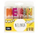 Albi Cake candles name - Nelinka, 2.5 cm