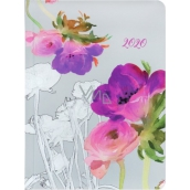 Albi Diary 2020 weekly Watercolor flowers 17 x 12.5 x 1.2 cm