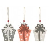 Wooden gift for hanging 8 cm 1 piece