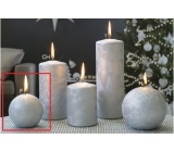 Lima Ice candle silver ball 80 mm 1 piece