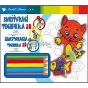 Smršťovací technika 3D 03 Kočka 18 x 15,5 cm