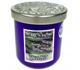 Heart & Home Lavender and sage Soy scented candle medium burns up to 30 hours 115 g