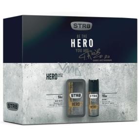 Str8 Hero toaletní voda pro muže 50 ml + deodorant sprej 150 ml, dárková sada