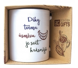 Bohemia Gifts Ceramic mug with print Thanks to your smile, the world is more beautiful 350 ml