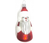 Irisa Flask glass figurine Santa, set of 5 pieces