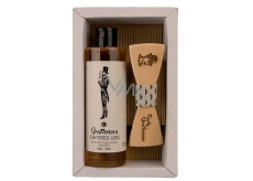 Bohemia Gifts Gentleman Beer yeast and hops shower gel 250 ml + wooden butterfly cosmetic set for men
