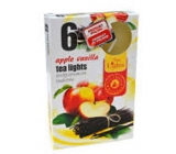Tea Lights Apple Vanilla with scent of apple and vanilla scented tea candles 6 pieces