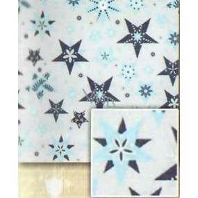 Nekupto Christmas wrapping paper Silver, blue stars 0.7 x 5 m
