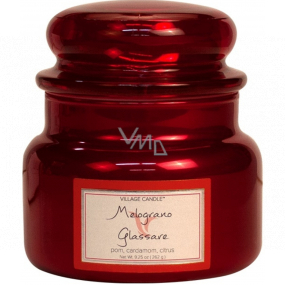 Village Candle Refreshing pomegranate - Melograno Glassare scented candle in glass 2 wicks 262 g