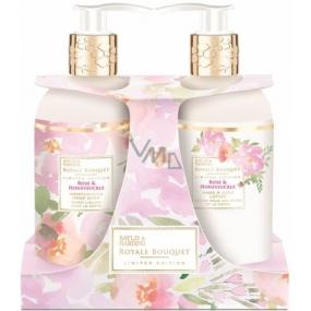 Baylis & Harding Rose and Honeysuckle liquid soap 300 ml + hand lotion 300 ml, cosmetic set